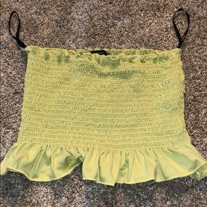 Lime green crop top